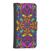 Purple Turquiose and Yellow Mandala Pattern iPhone 5 Wallet