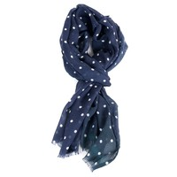 Tom Ford Navy Silk Blend Polka Dot Scarf