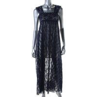 Free People Womens Lace Sleeveless Nightgown