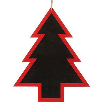 "16.5"" Alpine Chic Country Rustic Style Red and Black Tree Shapped Christmas Ornament"