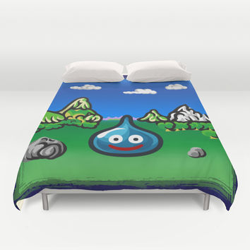 A Slime Draws Near! Duvet Cover by Likelikes
