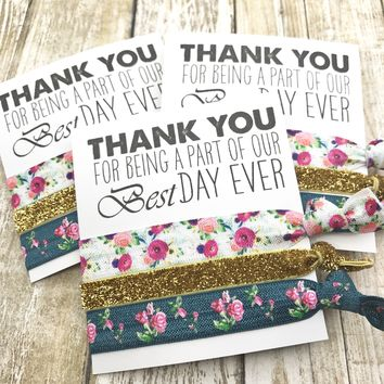 THANK YOU for being a part of our Best Day Ever Wedding Favors | To Have and To Hold