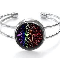 Anti Possession Multi Color Silver Plated Bracelet Handmade Supernatural Jewelry
