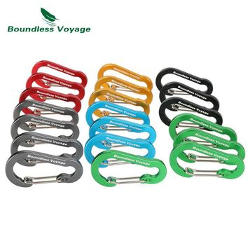 Boundless Voyage Aluminum Alloy Carabiner Outdoor Climbing Accessories Buckle Multifunction Backpack Hook Key Chain BV1011