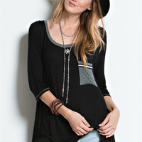 Righteous Round Neck 3/4 Sleeve Tunic