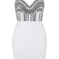 **Beaded Bustier Dress by WYLDR - Boots