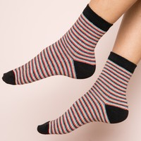 MULTI-COLOR STRIPE SOCKS