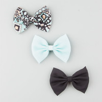 Full Tilt 3 Piece Bow Hair Clips Mint One Size For Women 25809352301