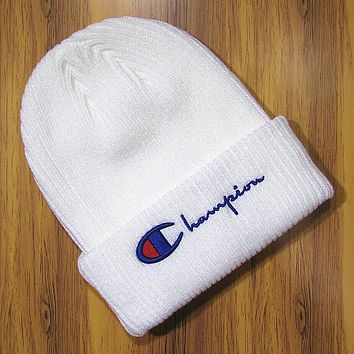 Perfect Champion Hip Hop Women Men Beanies Winter Knit Hat Cap
