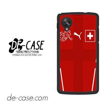 Switzerland Soccer Jersey For Google Nexus 5 Case Phone Case Gift Present YO