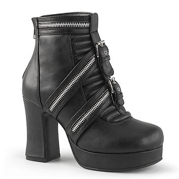 Demonia - GOTHIKA-50 - Black Vegan Leather - Women's Ankle Boots