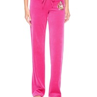 Velour Juicy Rose Pant by Juicy Couture