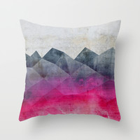 Pink Concrete Throw Pillow by Cafelab