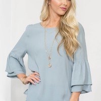 Lina Tiered Bell Sleeve Top