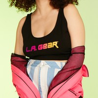 Plus Size L.A. Gear Graphic Crop Top