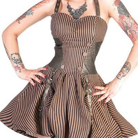 Penny Farthing Steampunk Dress Living Dead Souls Voodoo Vixen Gothic Punk Horrorpunk Dresses  Clothing
