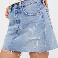 Free People Deconstructed Denim Skirt