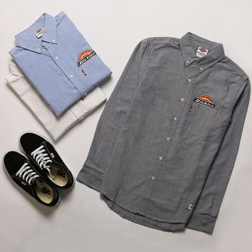 DICKIES long sleeve Men Oxford spinning pure color shirt