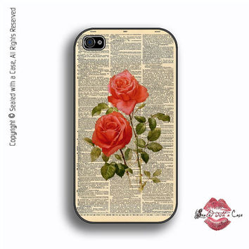 Dictionary Mothers Day Rose - iPhone 4 Case, iPhone 4s Case and iPhone 5 case,  Samsung Galaxy II and III