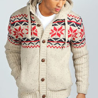 Fairisle Borg Lined Cardigan