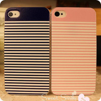 iPhone 4 Case simple Stripe Pink Blue iPhone 4 Case Couple iPhone Case