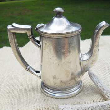 Vintage Hotel Alexander Hamilton Mini Silver Plated Coffee Tea Pot
