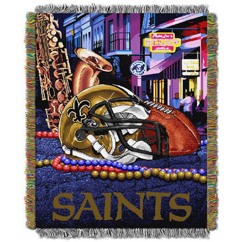 New Orleans Saints NFL Woven Tapestry Throw (Home Field Advantage) (48x60)