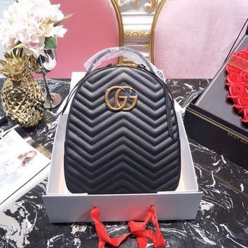 Gucci Gg Marmont Quilted Leather Backpack #1368