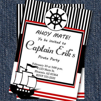Pirate Party Invitations | Printable Boy Invitation | Party Decor Available in our Shop