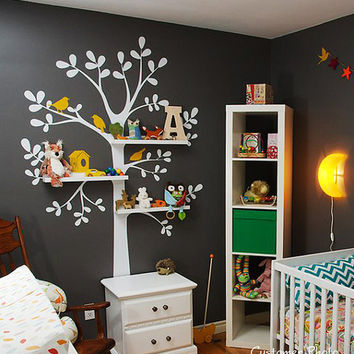 The Original Shelving Tree Wall Decal  Nursery by SimpleShapes