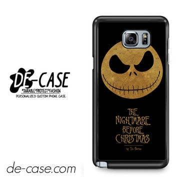 The Nightmare Before Christmas By Tim Burton For Samsung Galaxy Note 5 Case Phone Case Gift Present YO