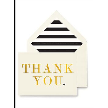 Thank You. Greeting Card, Single Folded Card or Boxed Set of 8