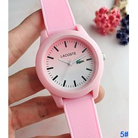 LACOSTE Fashion Boys Girls Movement Quartz Watches Silicone Wrist Watch 5#