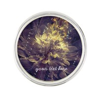 Flower Of Liberty - Golden Blue Flower | Lapel Pin