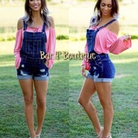 Farmers Daughter Short Overalls