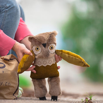 Edgar  owl ,  soft toy  by   Wassupbrothers.