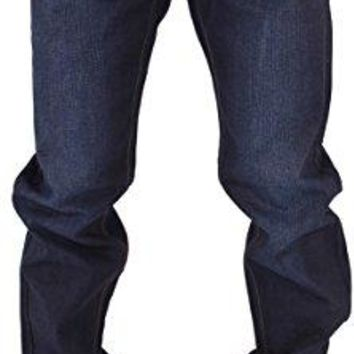 Rocawear Mens Boys Double R Star Relaxed Fit Hip Hop Jeans Is Money G Time DKBlu (W48 - L34, Dark Knight Blue)