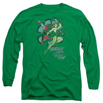 Dc - Harley And Ivy Long Sleeve Adult 18/1 Officially Licensed Shirt