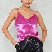Sleek Me Out Satin Cami
