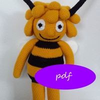 pattern crocheted bee amigurumi / pdf
