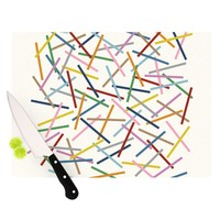 Kess InHouse Project M Sprinkles Cutting Board, 11.5 by 8.25-Inch