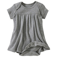 Burt's Bee's Baby™ Organic Cotton Short Sleeve Dress in Grey