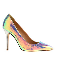ROXIE IRIDESCENT FOIL PUMPS