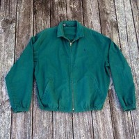 Vintage jacket. Green cotton Polo Ralph Lauren jacket. Made in the USA.