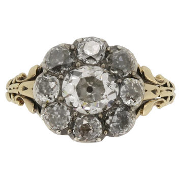 Georgian Diamond Cluster Ring circa 1830