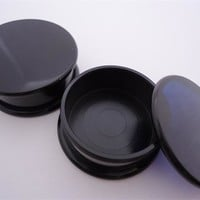 Black Stash Plugs (6 gauge - 1 & 1/2 inch)