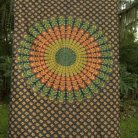 Cool Colors Mandala Tapestry