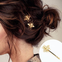 Fashion 1Pcs Gold Women Bee Hair Claws Hair Accessories Jewelry Lady Girl Lovely Gift