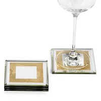 Gold Leaf Mirror Coaster - Set of 4 | Gifts for the Bar | Gifts | Z Gallerie