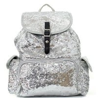 Sequin Fashion Backpack SIL